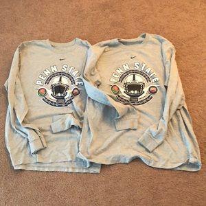 Two Nike Penn State 2009 Rose Bowl Game T-Shirts